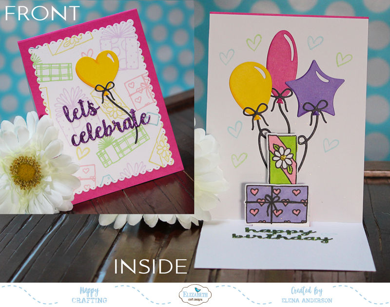 Happy Birthday Blog Hop Pop Up Card For Elizabeth Craft Designs