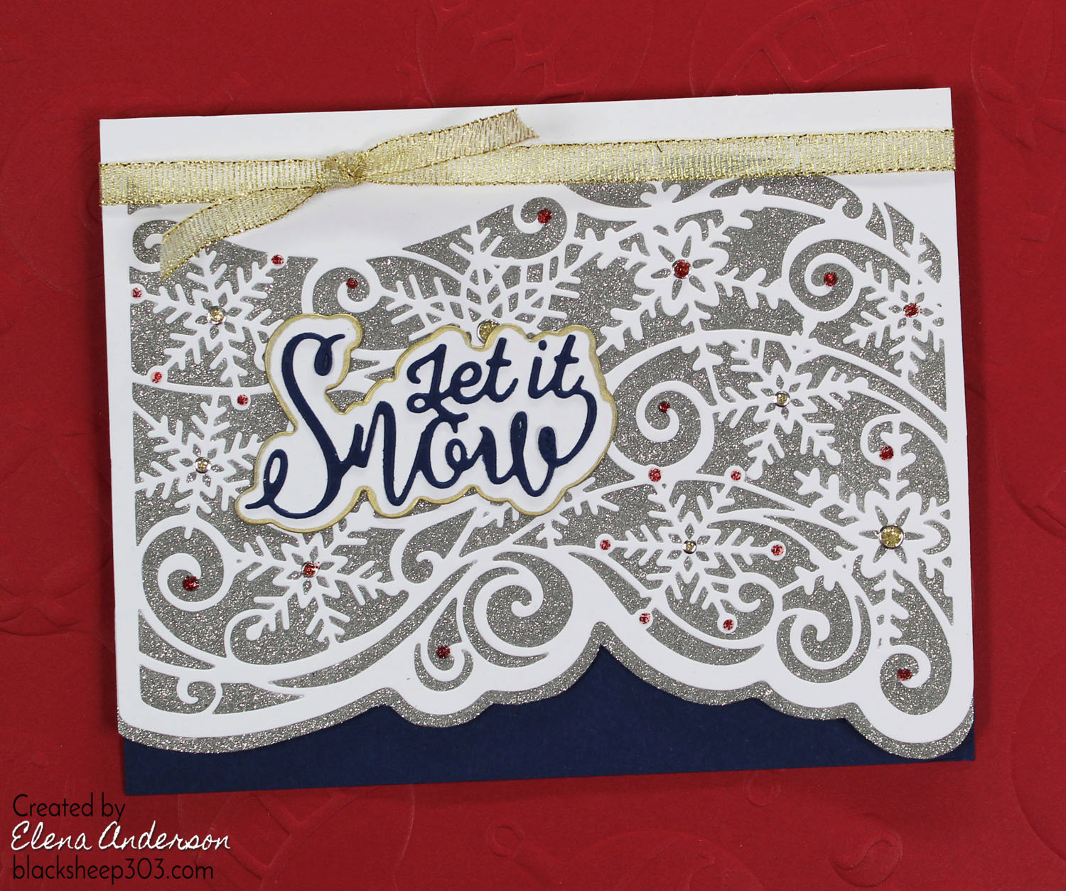 Intricate Snowflake Christmas Card With Crafter S Companion