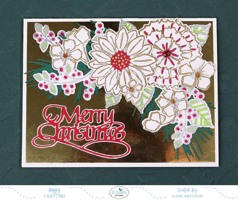 Elizabeth Craft Designs Designer S Challenge A Floral Christmas