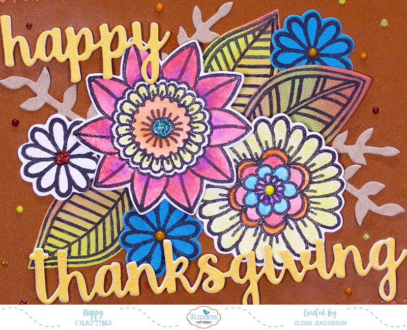 Non Traditional Thanksgiving Card For Elizabeth Craft Designs
