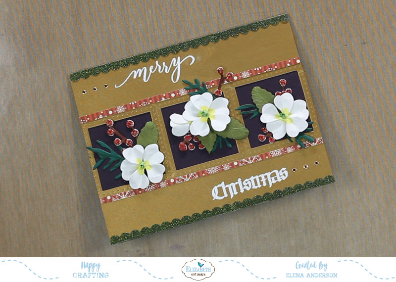 Garden Notes Frame It Christmas Card - Step 8