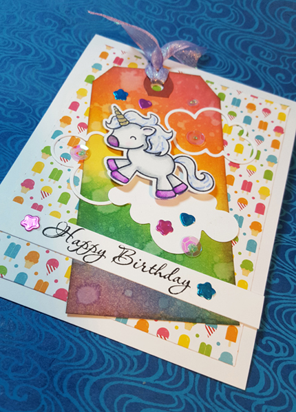 Unicorn Birthday Card Front