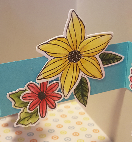 Floating Flower Card Close Up