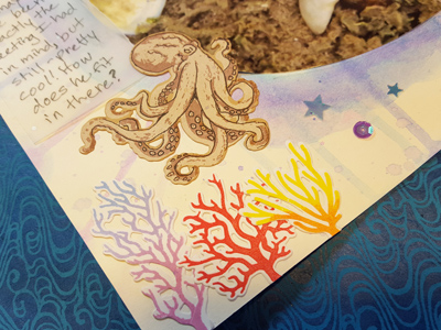 Octopus Scrapbook Page Title Closeup