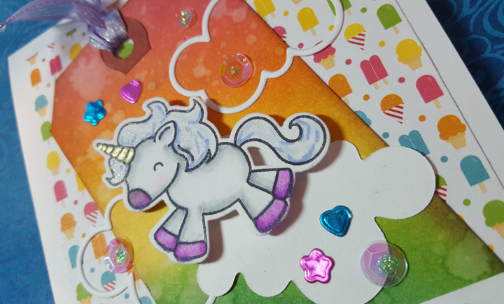 Unicorn Card Closeup