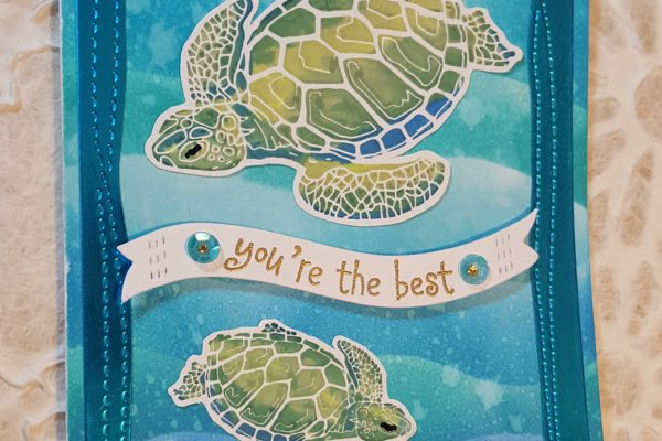 Sea Turtles & Distress Ink Birthday Card