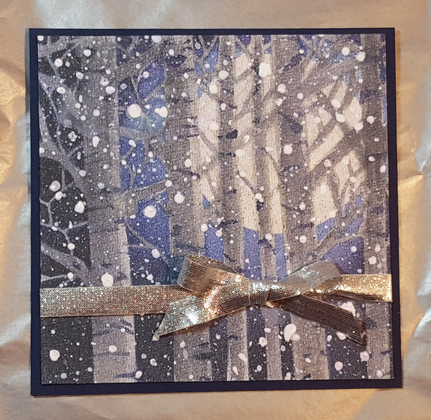 12 Days of Christmas Cards - Distress Ink Forest