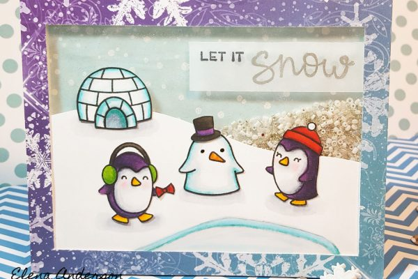 12 Days of Christmas Cards - Let It Snow Shaker