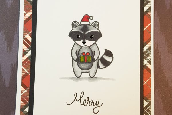Lawnscaping Challenge - Clean and Simple Raccoon Christmas