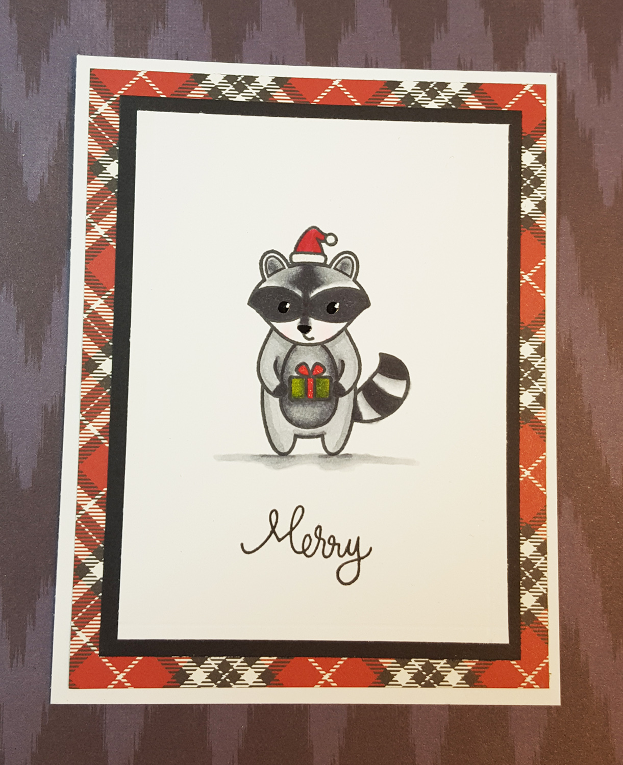 Lawnscaping challenge clean and simple party animal for Wildlife christmas cards 2016