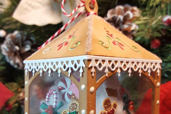 Faux Gngerbread House Ornament