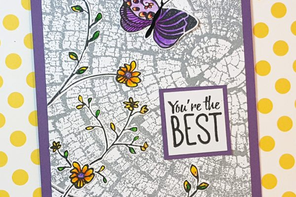Botanical Thank You Card using Zig Clean Color Real Brush Markers