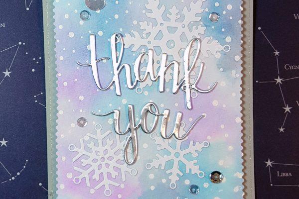Winter-y Thank You card