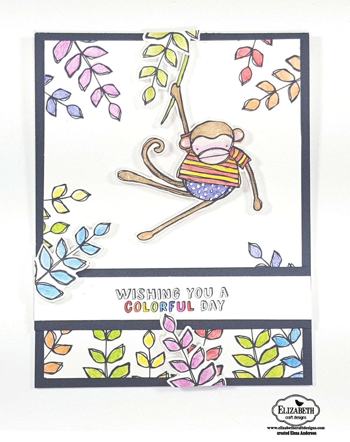 Elizabeth Craft Designs Monkey Card How-To: Step 6