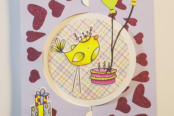 Elizabeth Craft Designs Bird-Day Party Card