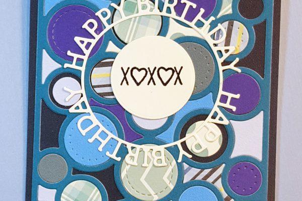 Monochromatic Masculine Birthday Card