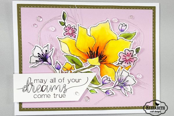 Elizabeth Craft Designs Dreamy Floral Card
