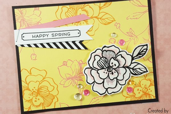 Happy Spring Stamping with Distress Oxides