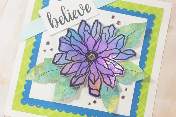 Elizabeth Craft Designs Designers Coloring Challenge - Distress Oxide Flower