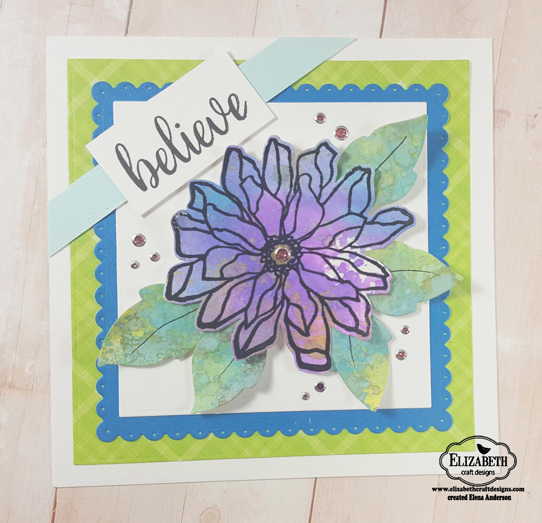 Elizabeth Craft Designs Designers Coloring Challenge - Distress Oxide Flower
