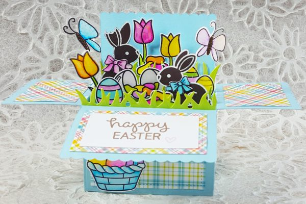 Lawn Fawn Easter Basket Scalloped Pop-Up Card Box