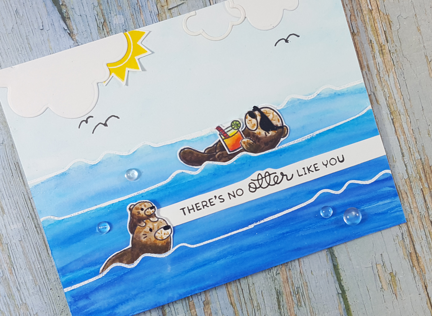 Otterly Adorable Card with Mama Elephant and Zig Markers