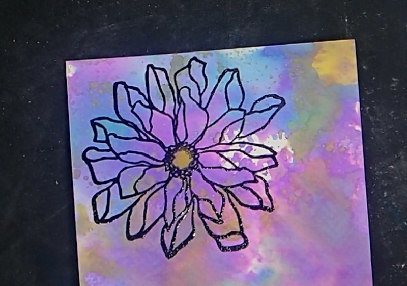 Fabulous Florals Challenge Card How To: Step Two