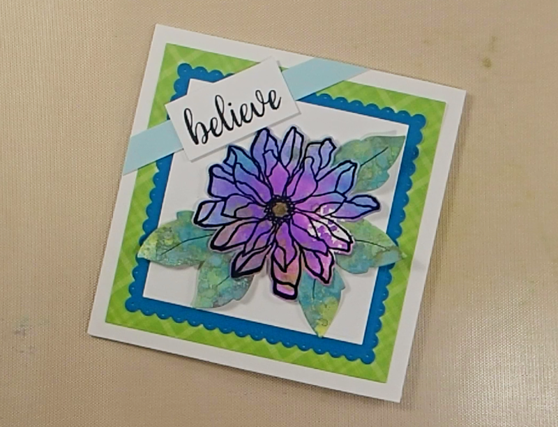 Fabulous Florals Challenge Card How To: Step Five