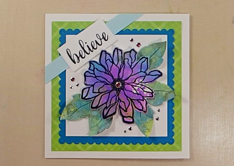 Fabulous Florals Challenge Card How To: Step Six