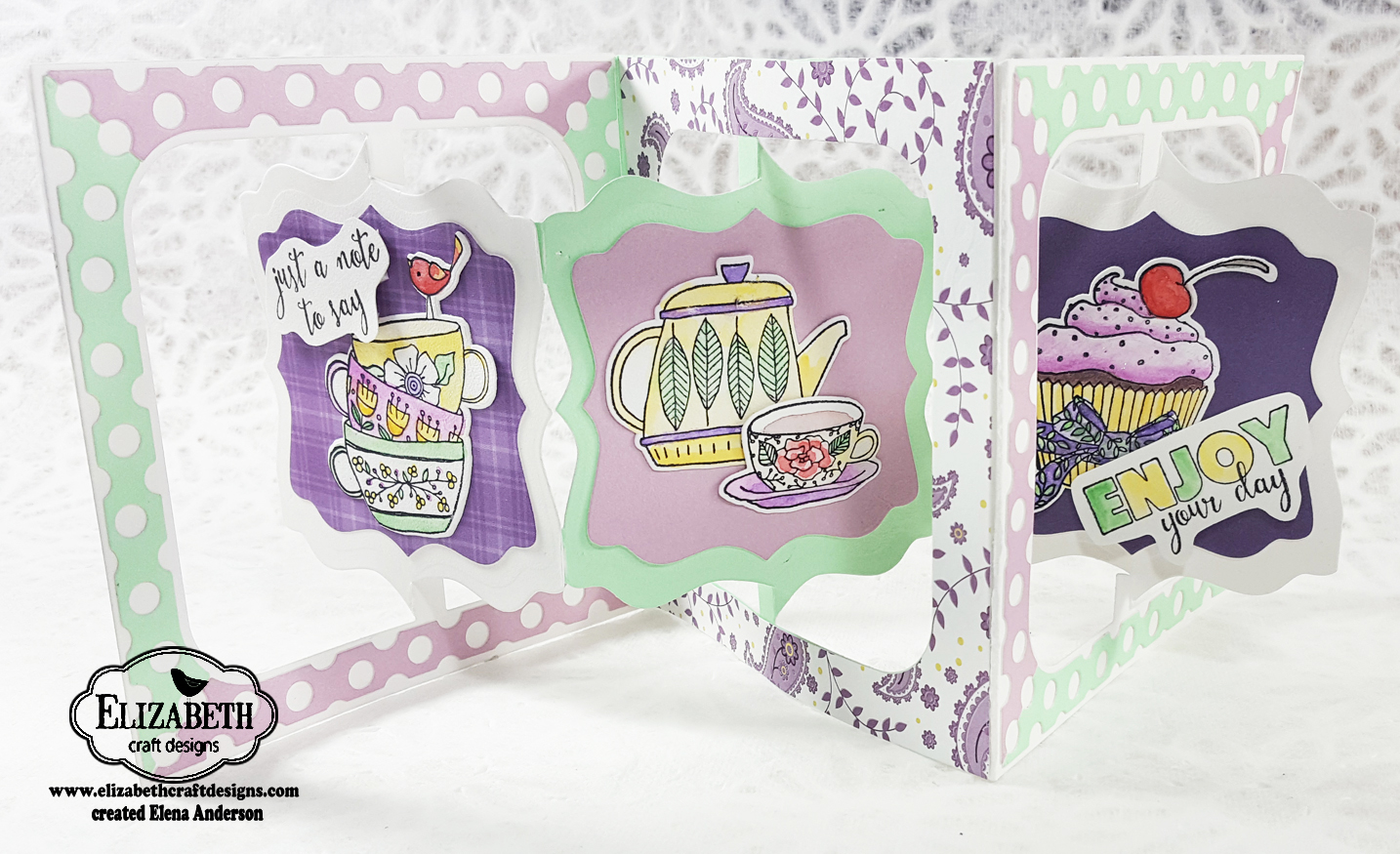 Fancy Tea Time Accordion Card