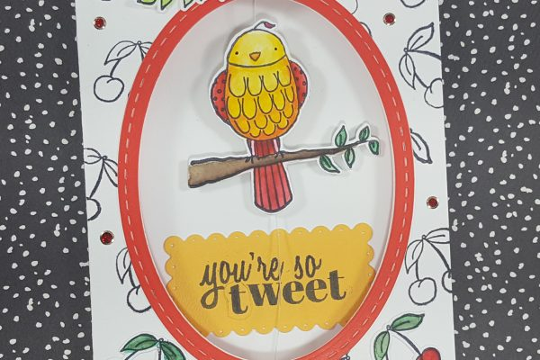Bird on a Wire Card with Elizabeth Craft Designs