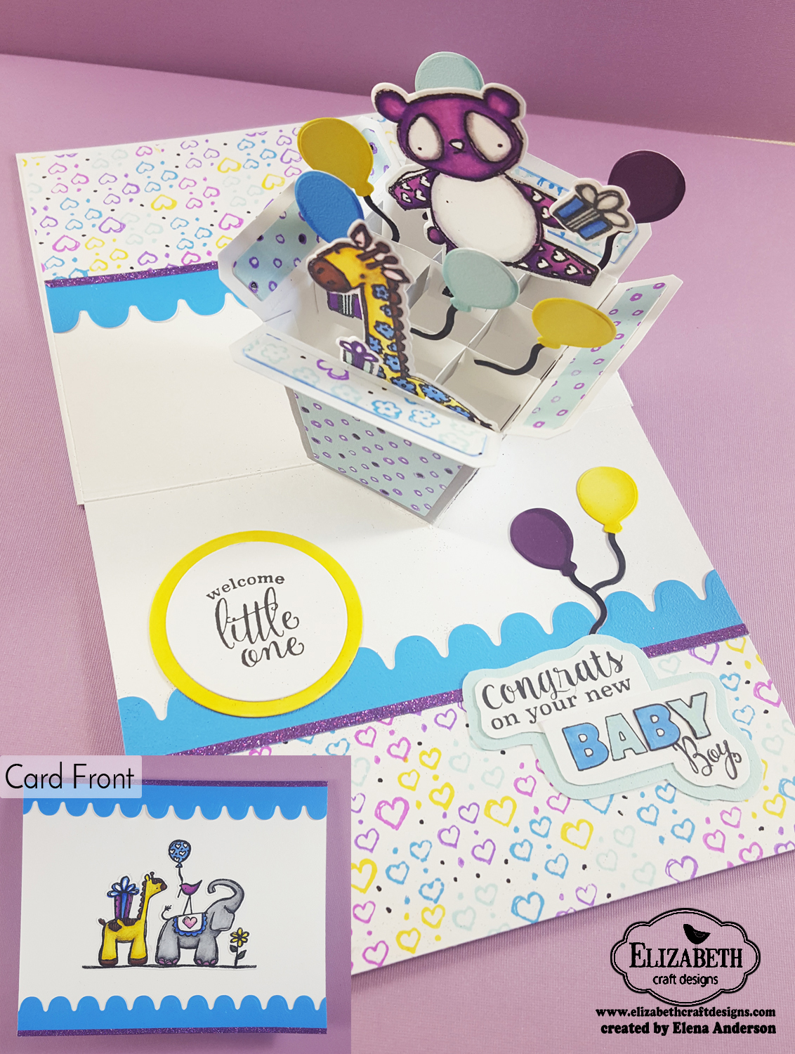 Elizabeth Craft Designs Designers Coloring Challenge - Inside Out