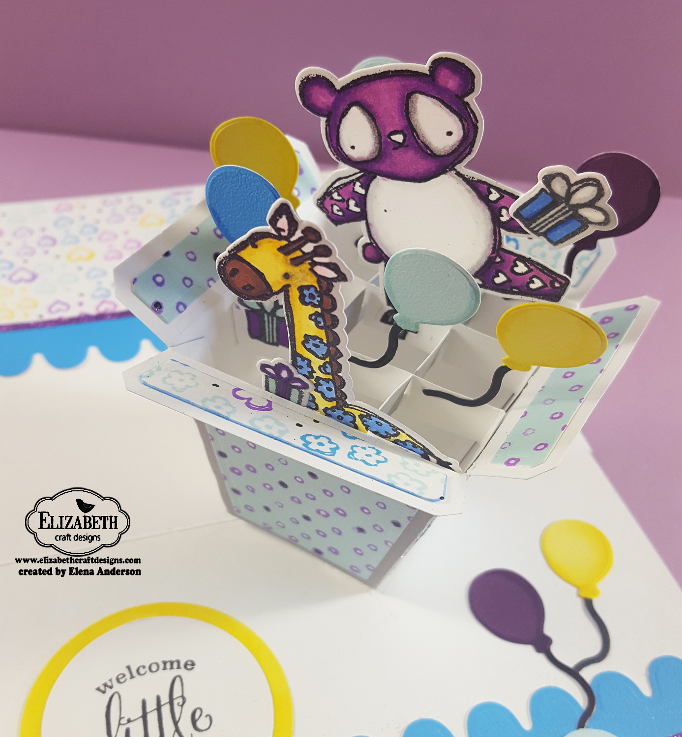 Elizabeth Craft Designs Designers Coloring Challenge - Inside Out Detail