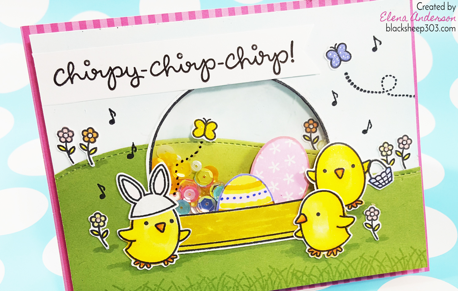 Lawn Fawn Chirpy Chirp Chirp Easter Shaker Card