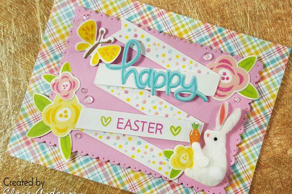 Lawn Fawn Fancy Folded Banner Easter Card