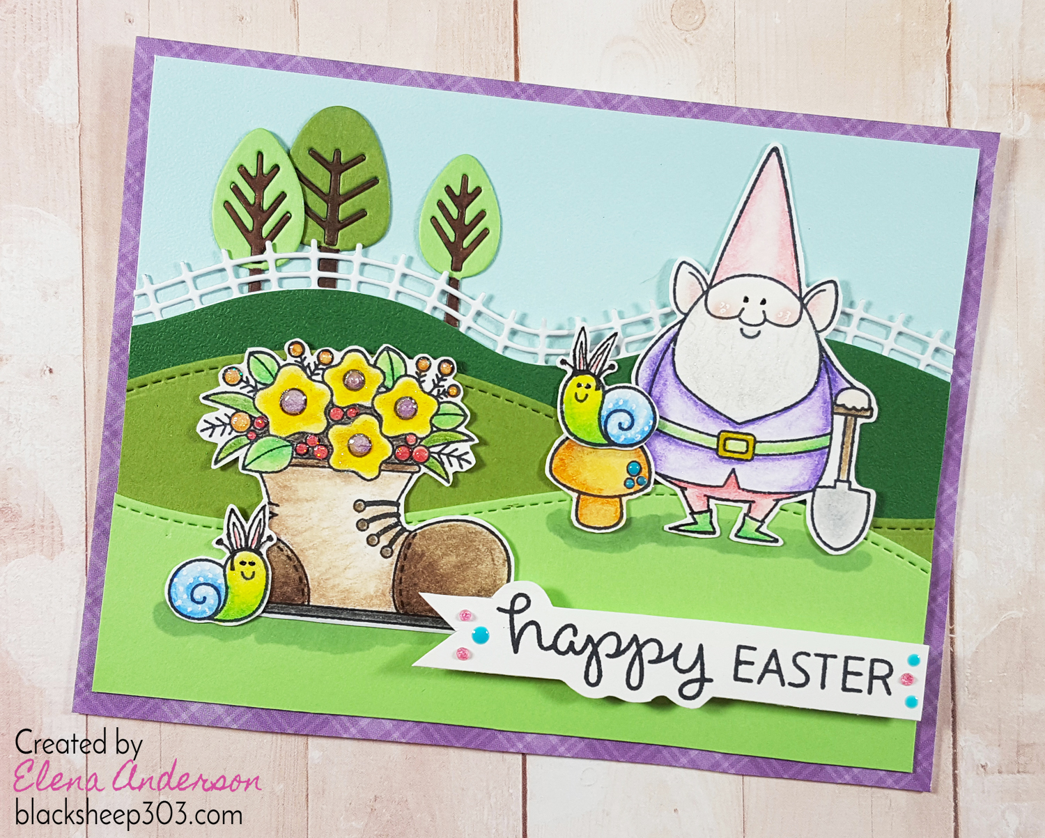 My Favorite Things You Gnome Me Easter Card