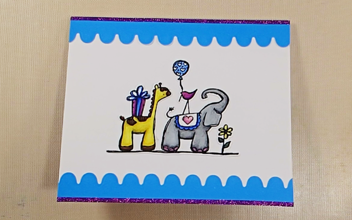 Elizabeth Craft Designs Designers Coloring Challenge - Inside Out: Step Nine